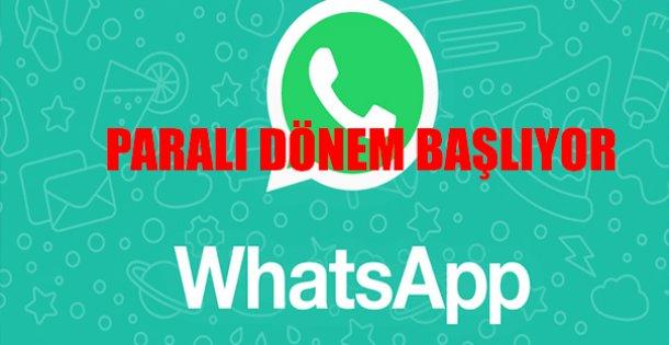 Whatsapp Paralı Döneme Giriyor