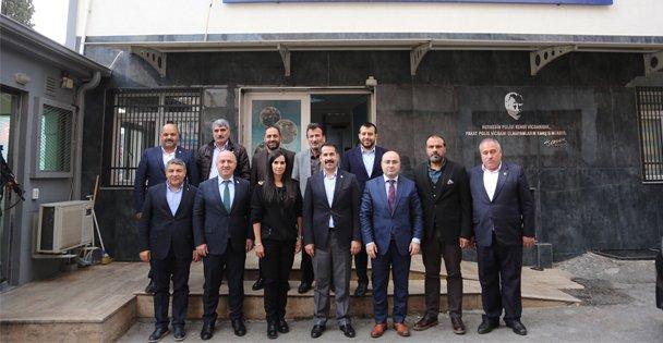 Yaman ve Başkanlar emniyet müdürünü ziyaret etti