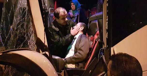 Şoföre yolcular moral verdi