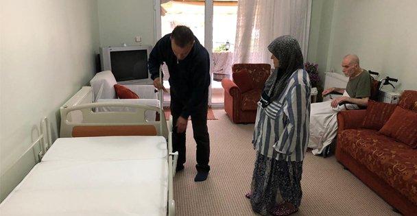 Yatalak hastalara yatak yardımı
