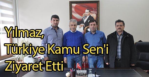 Yılmaz, Türkiye Kamu Seni Ziyaret Etti