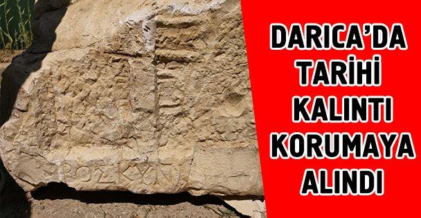 Tarihi eser koruma altına alındı