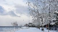 Tarihi Yarımada'dan kar manzaraları